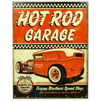 Torque Brothers Hot Rod Garage Tin Metal Sign Mechanic Racing Race Car B99