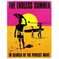 Endless Summer Tin Metal Sign Classic Movie Poster Surfing Beach Tiki Bar Ocean F56