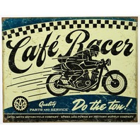 Anvil Moto Motorcycle Company Cafe Racer Tin Metal Sign Bike Garage Parts Power E13
