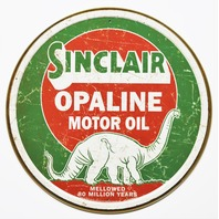 Sinclair Opaline Motor Oil Tin Metal Signs Gasoline Gas Dinosaur Vintage Style