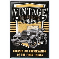 Vintage Originals Service and Repair FRIDGE MAGNET Hot Rod Car Show Mechanic Garage