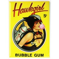 DC Bombshells Hawkgirl Bubble Gum FRIDGE MAGNET DC Comics Comic Book D17