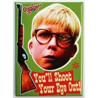 A Christmas Story You'll Shoot Your Eye Out FRIDGE MAGNET Red Ryder Rifle D20