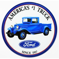Ford Americas #1 Truck Tin Metal Sign F150 F Series Garage