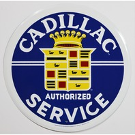 Cadillac Authorized Service Tin Metal Sign GM XTS CTS ATS Escalade Deville F80