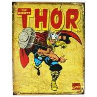The Mighty Thor Tin Metal Sign Marvel Comics Avengers Iron Man Superhero D44