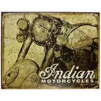 Indian Motorcycles Weathered Style Tin Metal Sign Chief Motorcycle Road King B91