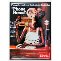 Coors Beer Phone Home ET Drinking AD FRIDGE MAGNET Movie Poster Classic