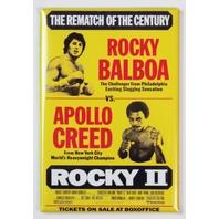 Rocky 2 Movie Poster FRIDGE MAGNET Balboa Stallone Apollo Creed Vintage Film