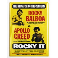 Rocky 2 Movie Poster FRIDGE MAGNET Balboa Stallone Apollo Creed Vintage Film
