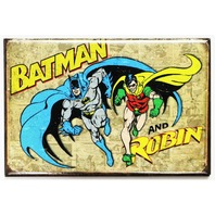 Batman and Robin FRIDGE MAGNET Vintage Style Comic Book DC Comics Retro J7