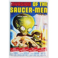 Invasion of the Saucer Men Movie Poster FRIDGE MAGNET Monster Vintage Style