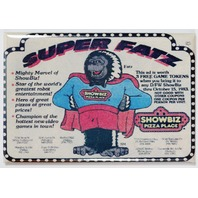 Super Fatz Showbiz Pizza Place FRIDGE MAGNET Vintage Style AD