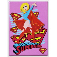 Supergirl FRIDGE MAGNET DC Comics Justice League Comic Book Hero Superman Pink