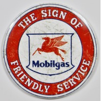 Mobilgas Socony Vacuum Pegasus Freindly Service FRIDGE MAGNET Gas Oil Mechanic Garage Exxon
