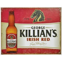 George Killians Irish Red Tin Metal Sign Bar Beer Alcohol Horse Pub Restaurant