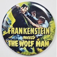 Frankenstein Meets The Wolfman Movie Poster FRIDGE MAGNET Monster Film
