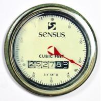 """Sensus Steampunk Gauge FRIDGE MAGNET Meter Vintage Style 2 1/4"""" Rnd"""