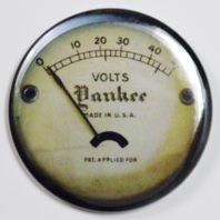 "Yankee Steampunk Gauge FRIDGE MAGNET Vintage Style Made in the USA 2 1/4"" Rnd"