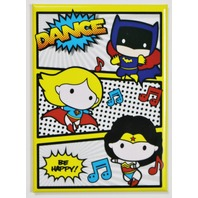 Chibi Wonder Woman Supergirl Batgirl Dance FRIDGE MAGNET DC Comics Batman J12