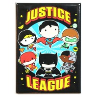 Chibi Justice League FRIDGE MAGNET DC Comics Batman Superman Wonder Woman Flash S15