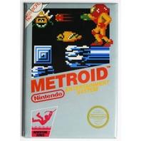 Nintendo Metroid FRIDGE MAGNET Video Game Box Classic NES