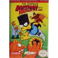 Nintendo The Simpsons Bartman Meets Radioactive Man FRIDGE MAGNET Video Game Box Classic NES
