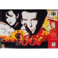Nintendo 64 Golden Eye 007 James Bond FRIDGE MAGNET Video Game Box