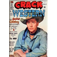 Crack Western No 72 Cover FRIDGE MAGNET Cowboy Comics Comic Book Gun