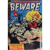 Beware Comics No 10 FRIDGE MAGNET Comic Book Zombies 50s