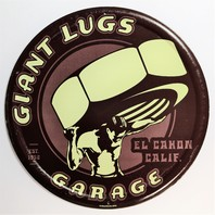 Giant Lugs Garage Tin Metal Sign Semi Truck Auto Mechanic F99