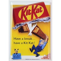 Kit Kat Have a Break FRIDGE MAGNET Candy 1950s Vintage Ad Kitchen Decor