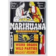 Marihuana Movie Poster FRIDGE MAGNET Marijuana Propaganda 1936 Film Pot Weed