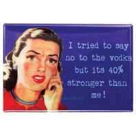 I Tried to Say No To Vodka FRIDGE MAGNET Funny Alcohol Bar 21 Humor