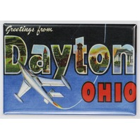 Greetings From Dayton Ohio FRIDGE MAGNET Jet Airplane Postcard