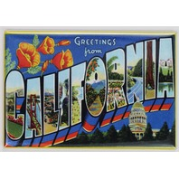 Greetings From California Postcard FRIDGE MAGNET Los Angeles San Francisco San Diego
