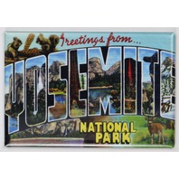 Greetings From Yosemite National Park Postcard FRIDGE MAGNET California El Captain