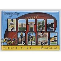 University of Notre Dame South Bend Indiana Postcard FRIDGE MAGNET