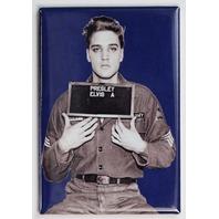Elvis Presley Mugshot FRIDGE MAGNET Military Uniform Rock and Roll