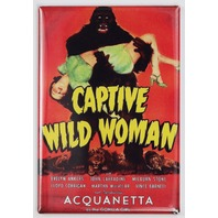 Captive Wild Woman Movie Poster FRIDGE MAGNET Classic 50's Sci Fi