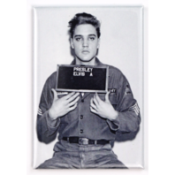 Elvis Presley Mugshot FRIDGE MAGNET Military Uniform B&W Rock and Roll