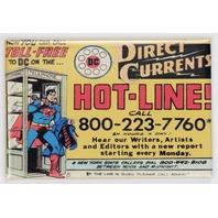 Direct Currents Hot Line SupermanFRIDGE MAGNET DC Comics Comic Book AD