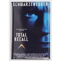 Total Recall Movie Poster FRIDGE MAGNET Arnold Schwarzenegger Sci Fi 90's