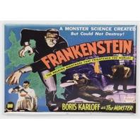 Frankenstein Movie Poster FRIDGE MAGNET Dracula Wolfman Monster
