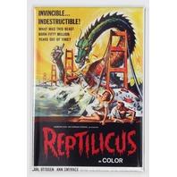 Reptilicus Movie Poster FRIDGE MAGNET Monster Film 1950's Sci Fi Dragon Serpent