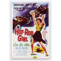 Hot Rod Girl Movie Poster FRIDGE MAGNET 1950's Drag Racing Race Car