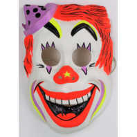 Vintage Clown Halloween Mask Circus Ben Cooper Costume IT Horror Y091