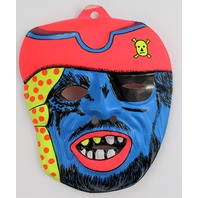 Vintage Blue Ghost Pirate Halloween Mask Creepy Scary Blue Beard Y103