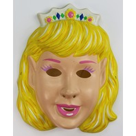 Vintage Princess Halloween Mask Beauty Queen Miss America Blonde Y104
