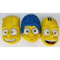 Vintage Ben Cooper The Simpsons Halloween Mask Set Marge Homer Bart Simpson 1989 Y089